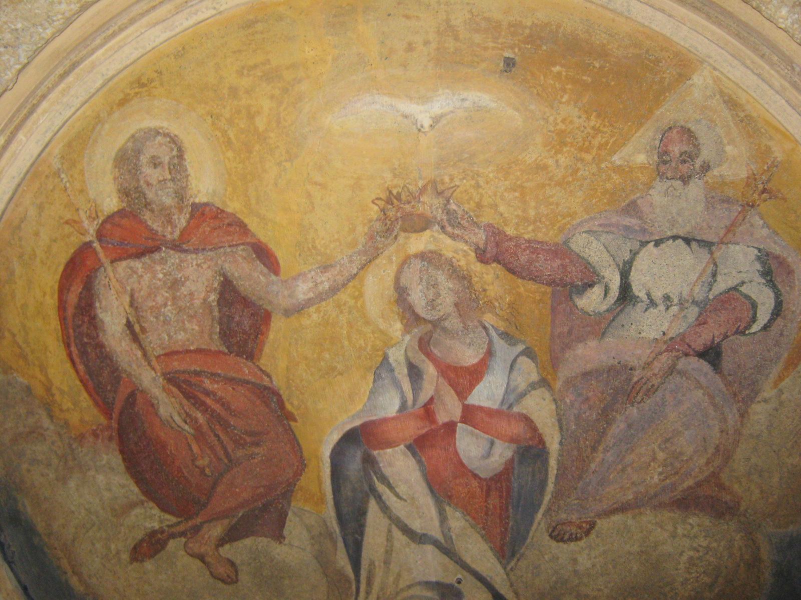 Incoronazione della Vergine, Affresco Casa Privata Bormio (SO)