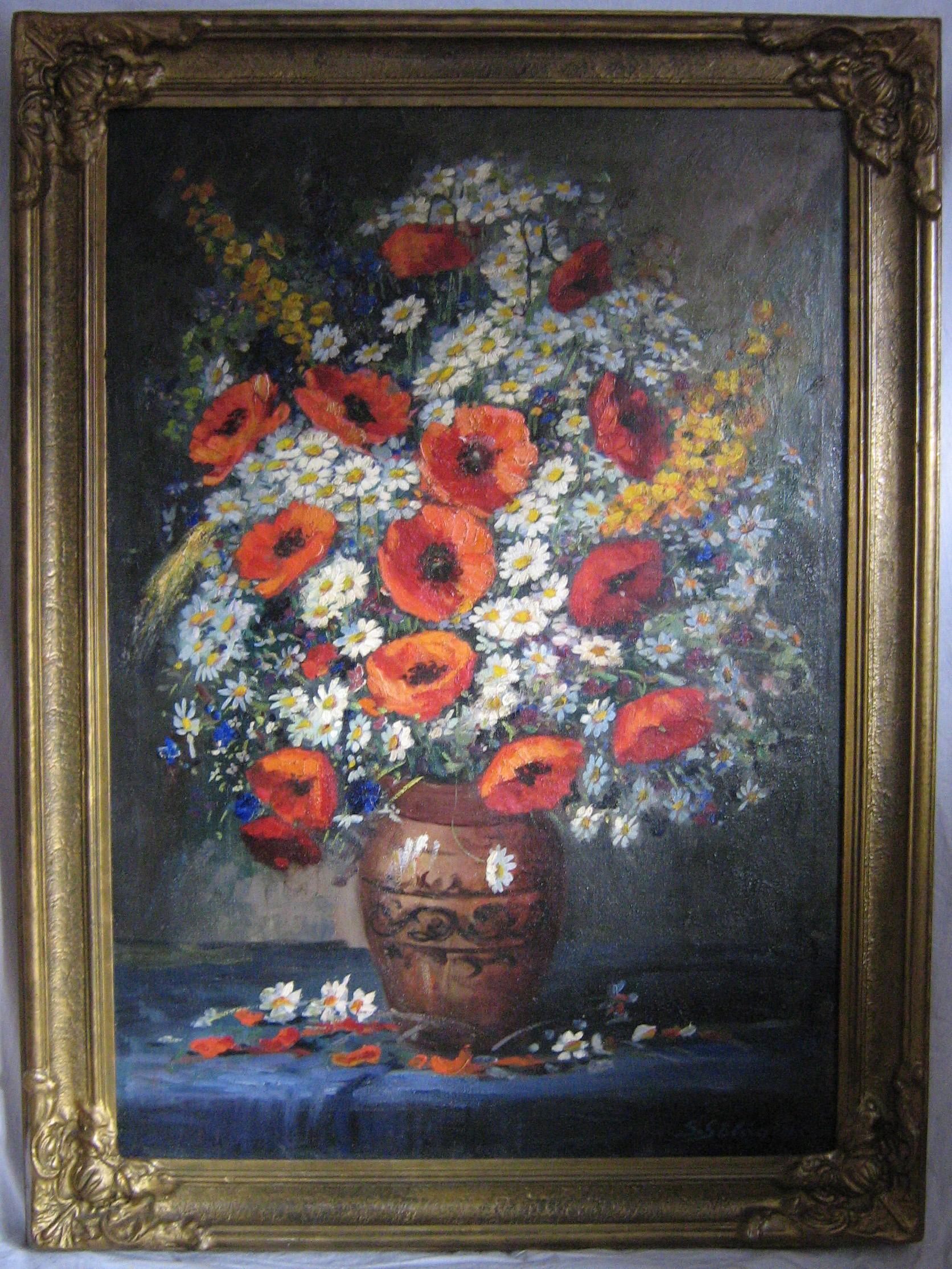 Vaso di Fiori, olio su tela, collez. Privata (SO)